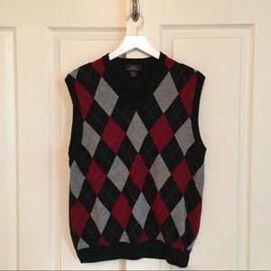 Brooks Brothers Merino Wool Argyle Vest